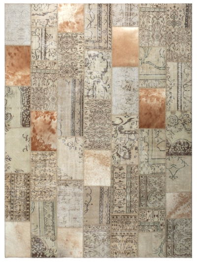COWHIDE PATCHWORK  NATURAL
